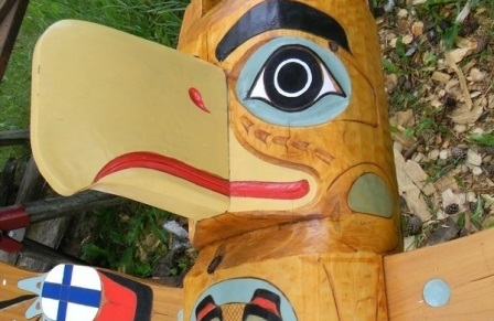 Custom totem poles and carving school
